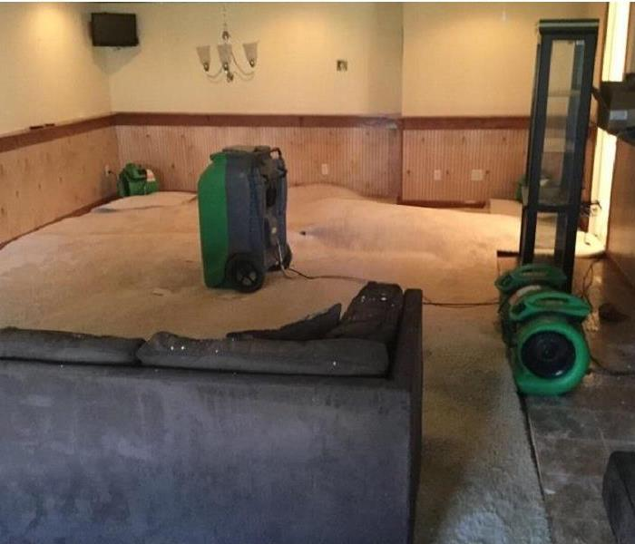Storms Cause Flooded Basement in Independence, Kentucky